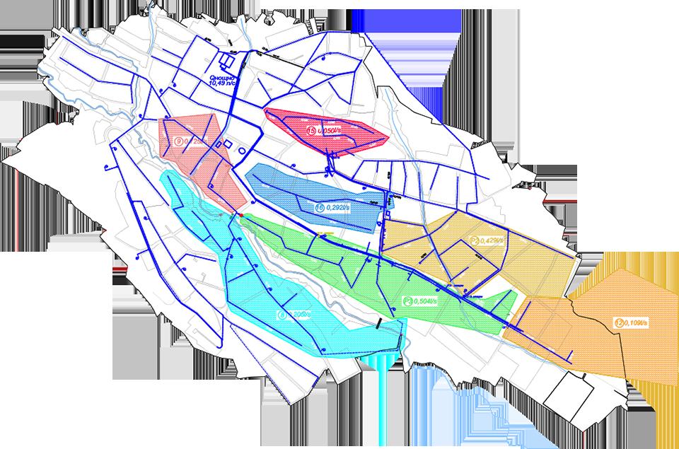 Карта на водни зони