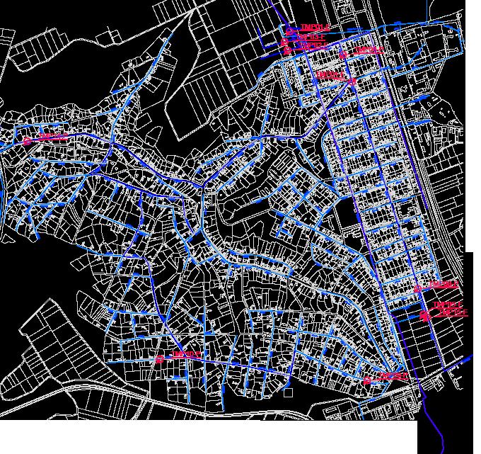 Карта на водопроводите и налягането